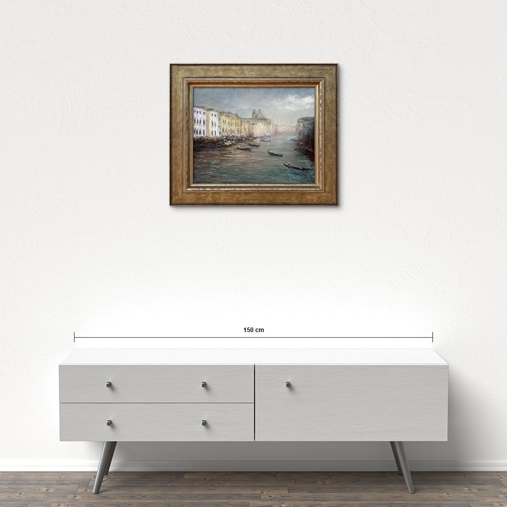 Názov: Benátky – Canal Grande / Rozmery: 40x50 cm / Rok: 2020 / Technika: Olejomaľba