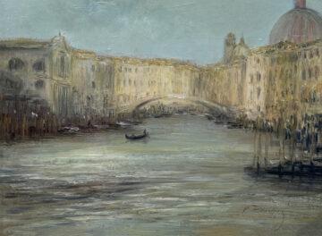 Názov: Ponte dell'Accademia / Rozmery: 30x40 cm / Rok: 2021 / Technika: Olejomaľba