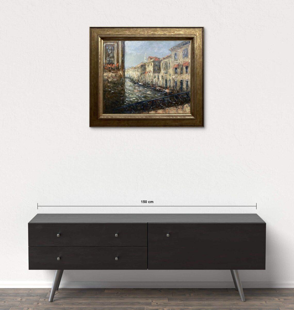Názov: Benátky / Rozmery: 50x60 cm / Rok: 2014 / Technika: Olejomaľba