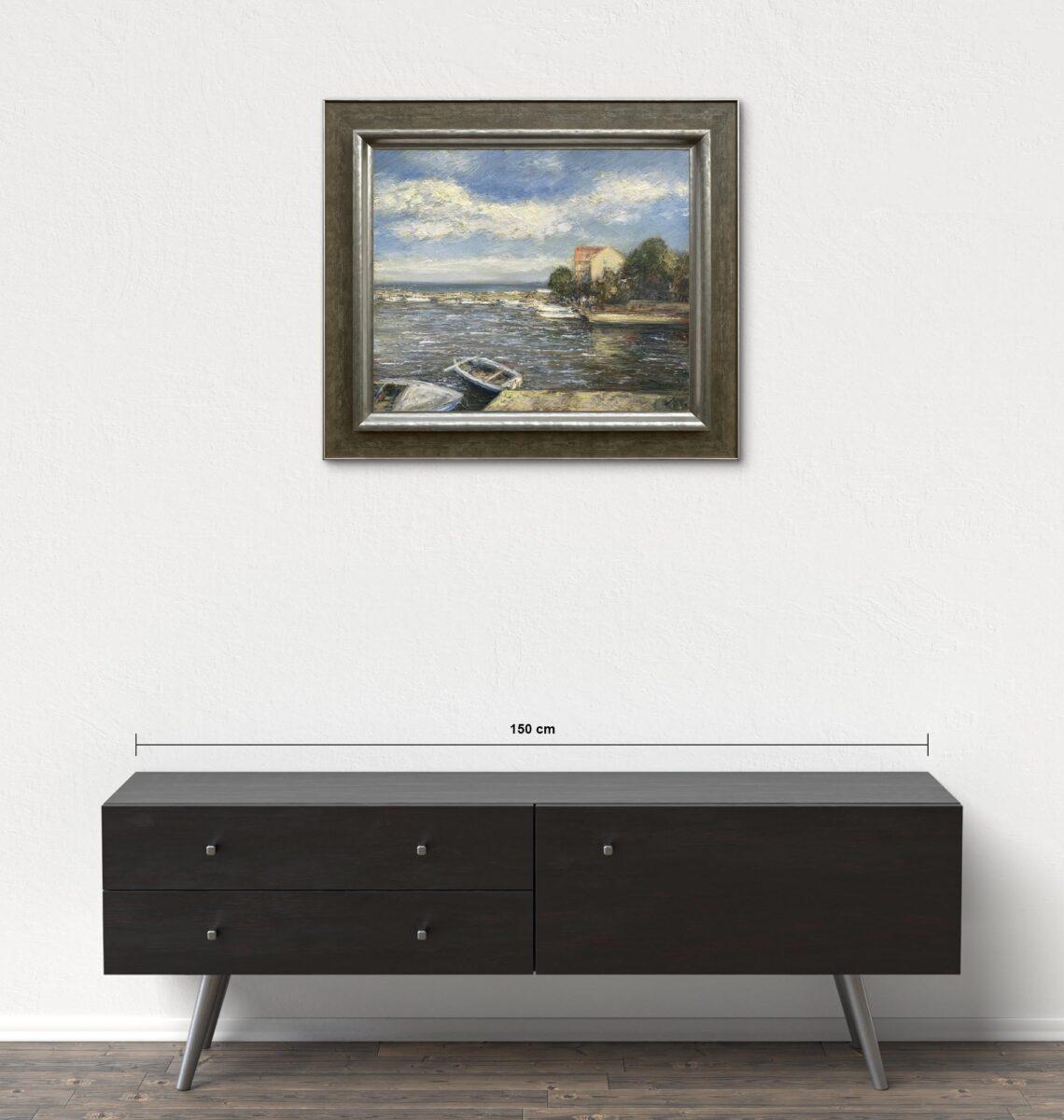 Názov: Ugljan / Rozmery: 50x60 cm / Rok: 2009 / Technika: Olejomaľba