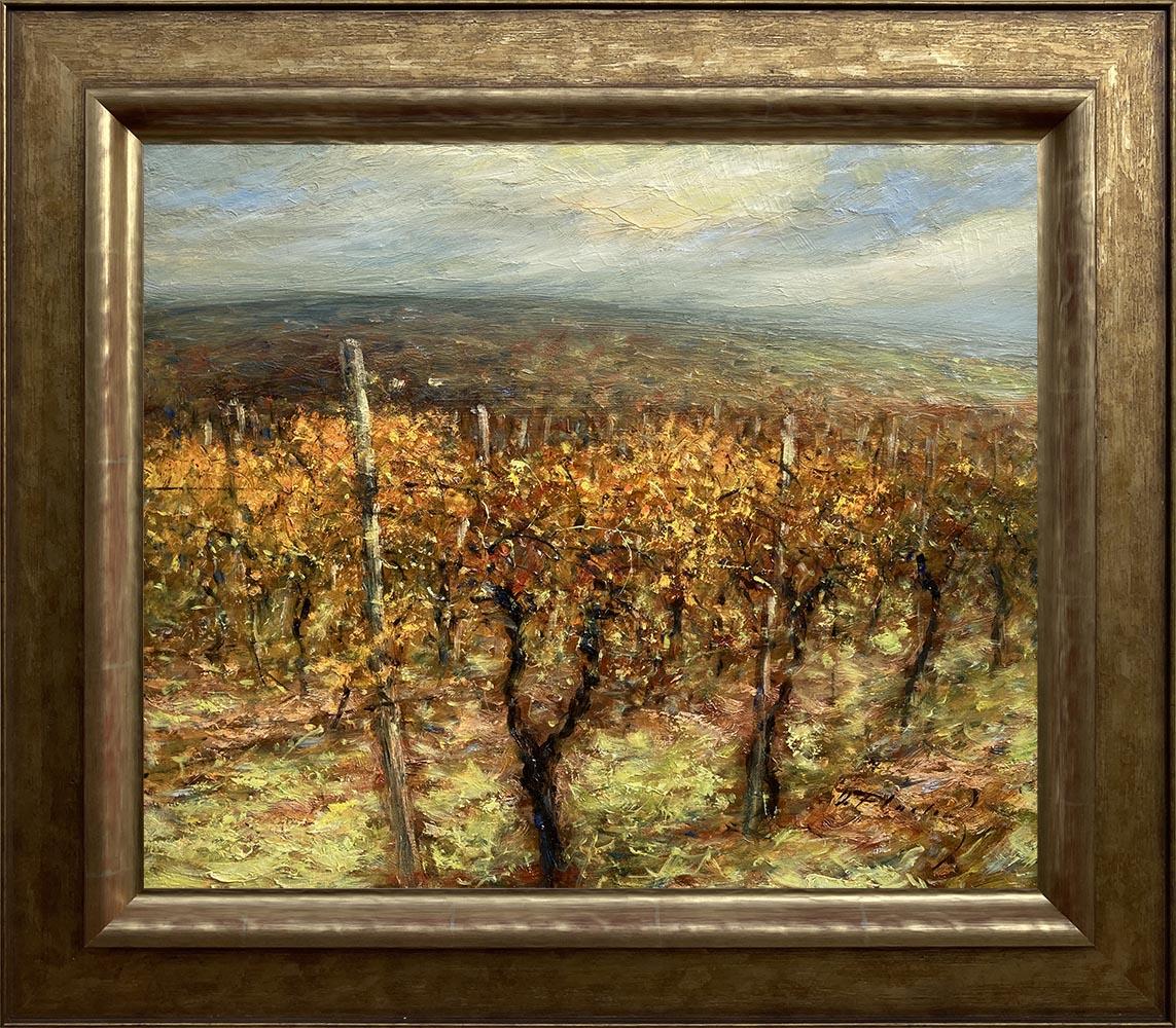 Názov: Vinohrady / Rozmery: 50x60 cm / Rok: 2013 / Technika: Olejomaľba