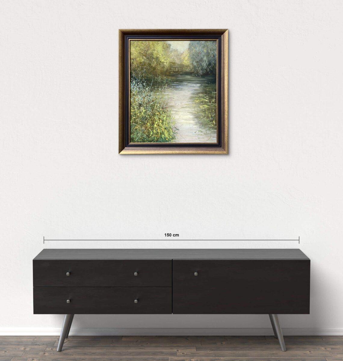 Názov: Jazierko / Rozmery: 60x50 cm / Rok: 2018 / Technika: Olejomaľba