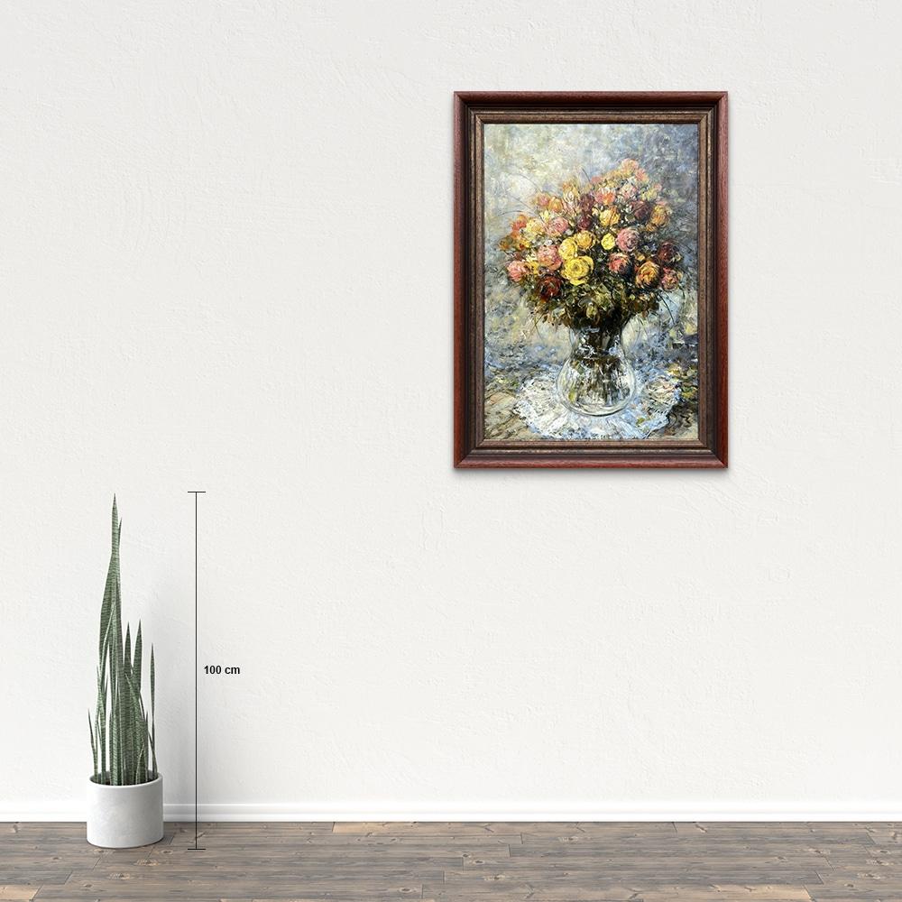Názov: Ruže / Rozmery: 90x60 cm / Rok: 2017 / Technika: Olejomaľba