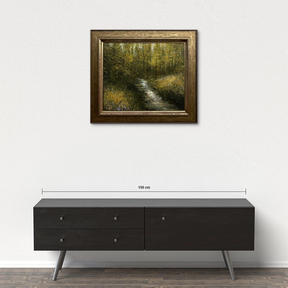 Názov: Lesný potok / Rozmery: 50x60 cm / Rok: 2018 / Technika: Olejomaľba