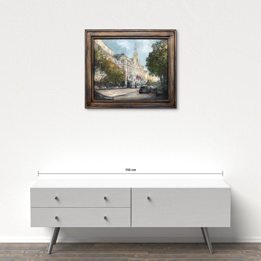 Názov: Budapešť / Rozmery: 50x60 cm / Rok: 2017 / Technika: Olejomaľba