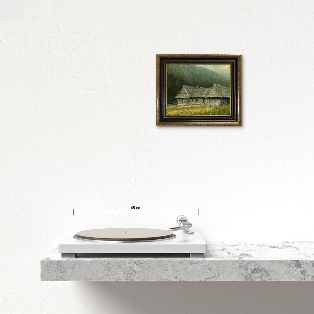 Názov: Pod horou / Rozmery: 19x23 cm / Rok: 2019 / Technika: Olejomaľba