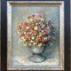 Názov: Váza ruží / Rozmery: 50x40 cm / Rok: 2020 / Technika: Olejomaľba