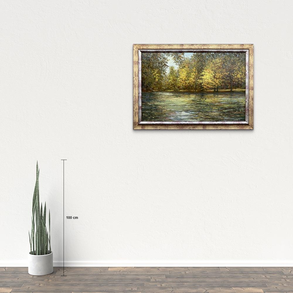 Názov: Vodné zákutie / Rozmery: 60x90 cm / Rok: 2016 / Technika: Olejomaľba