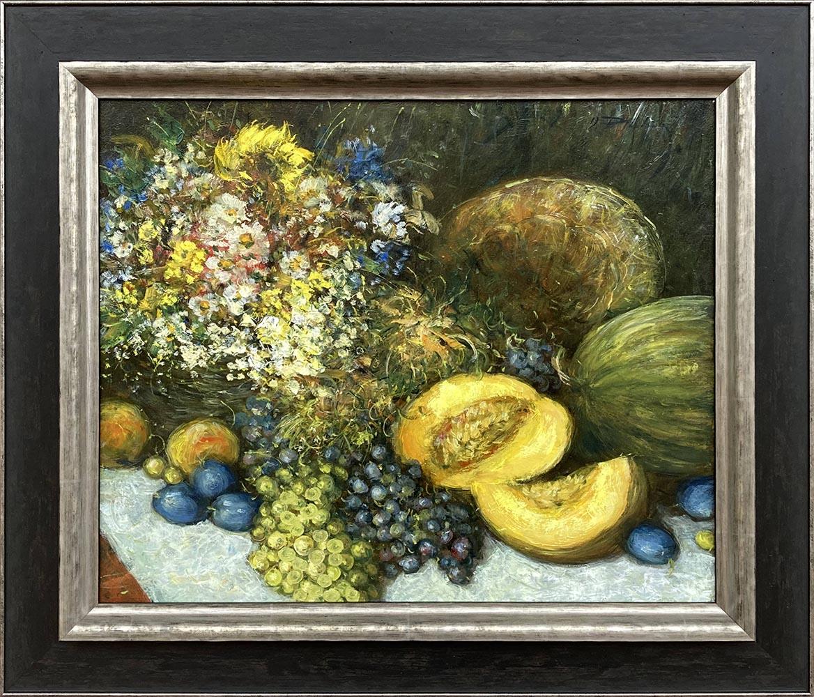 Názov: Zátišie s ovocím / Rozmery: 50x60 cm / Rok: 2019 / Technika: Olejomaľba